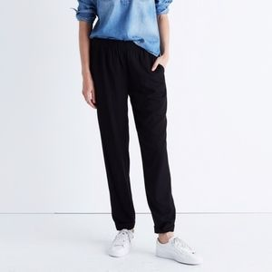 Madewell Black Pull On Track Trousers